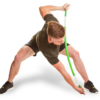 Man using ProFitstick and stretching