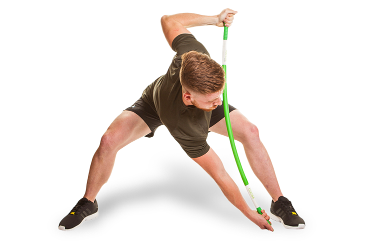 Man using ProFitstick and stretching